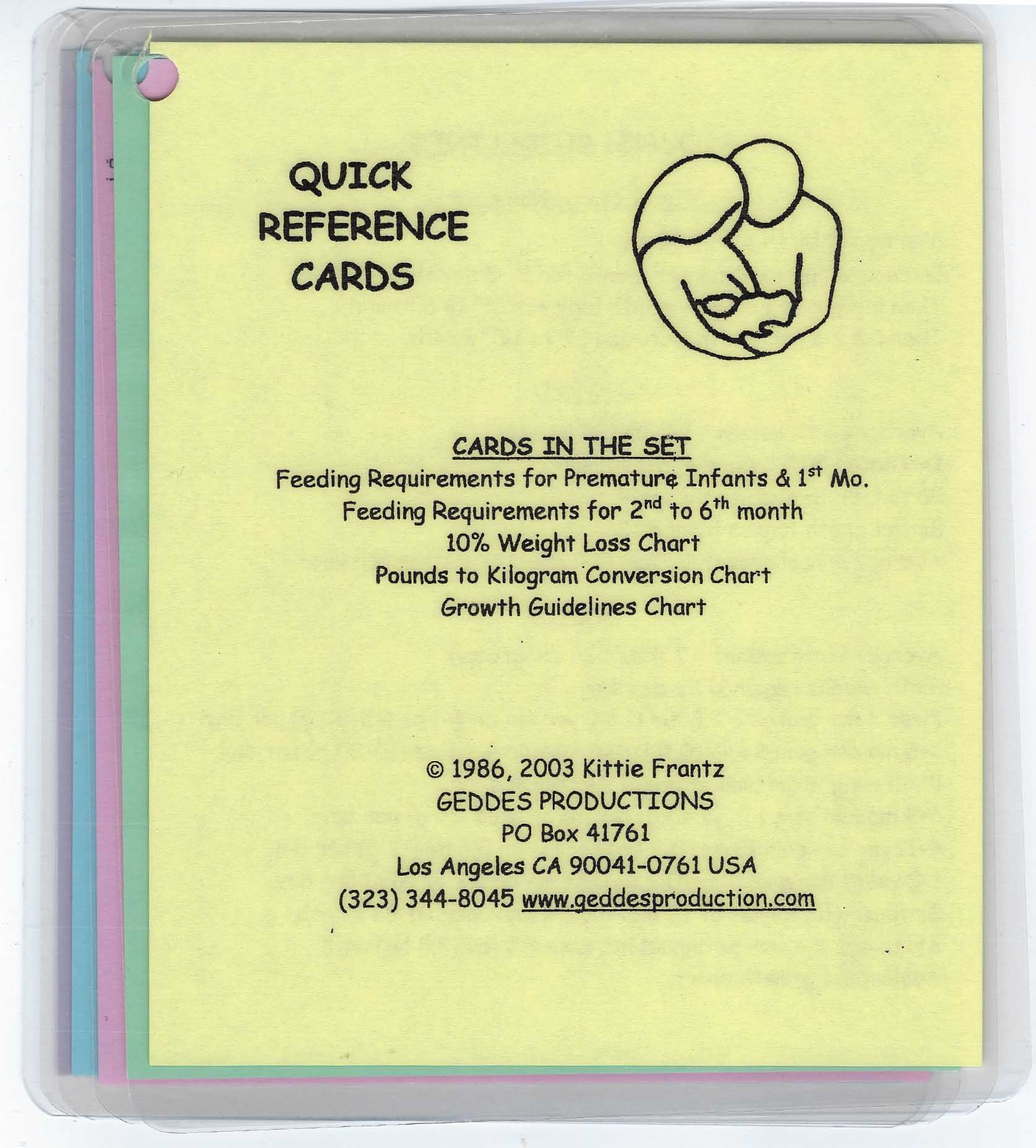 Infant Quick Reference Cards